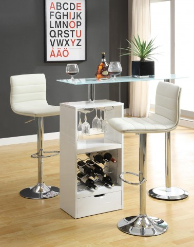 White Revolving Bar Set 120452