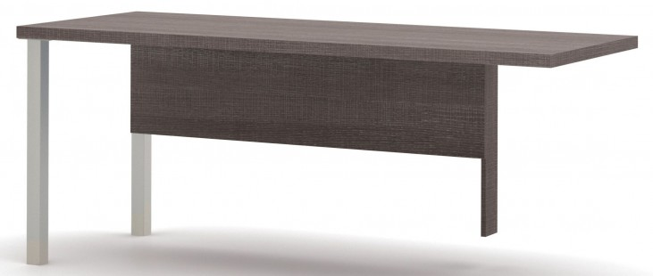 Pro-Linea Bark Grey Metal Leg Return Table