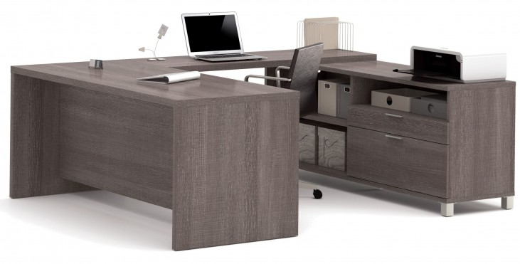 Pro-Linea Bark Grey U-Desk