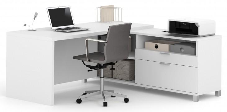 Pro-Linea White L-Desk