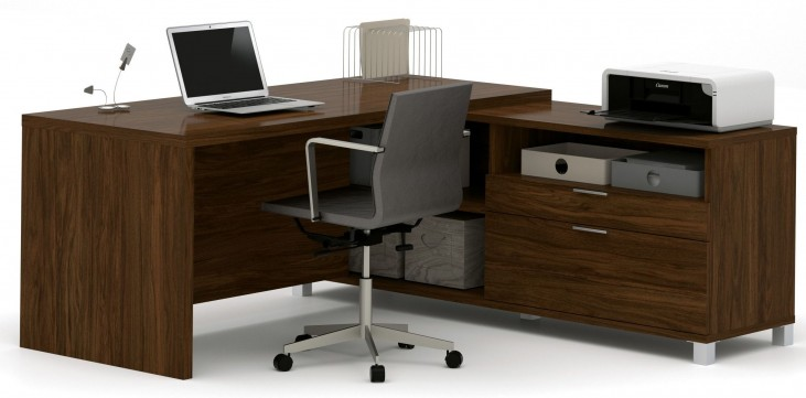 Pro-Linea Oak Barrel L-Desk