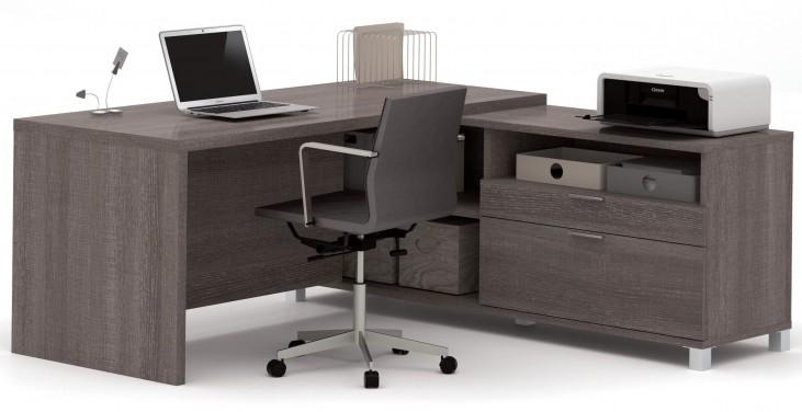 Pro-Linea Bark Grey L-Desk