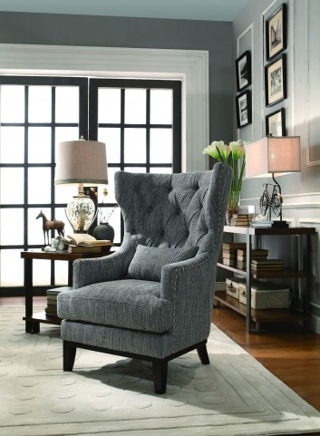 Adriano Dark Grey Fabric Accent Chair