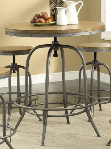 Modern Antique Black Adjustable Bar Table