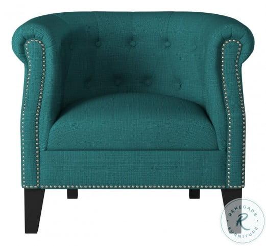 Karlock Teal Accent Chair