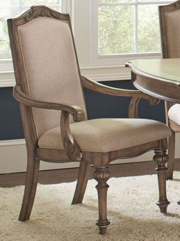 Ilana Cream and Antique Linen Arm Chair Set of 2