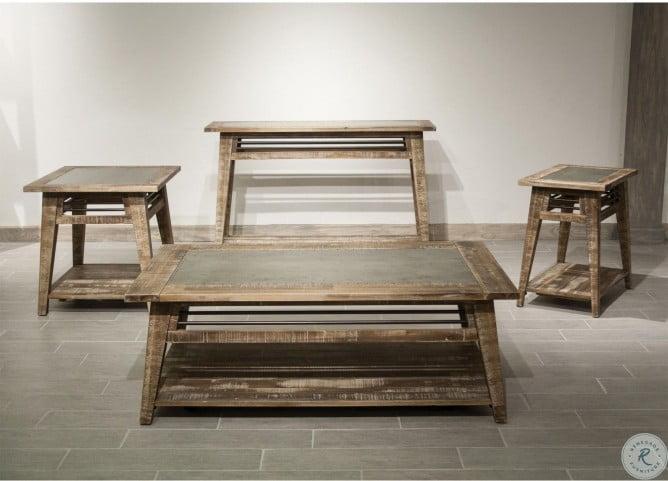 Rowan Rough Hewn Gray Occasional Table Set