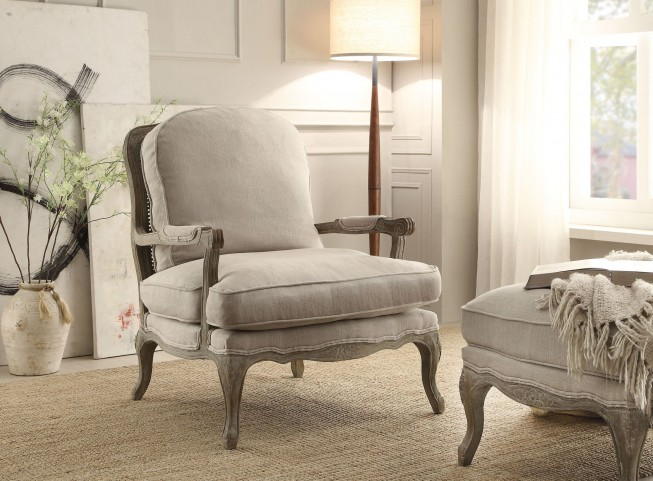 Parlier Grey Weathered Showood Accent Chair