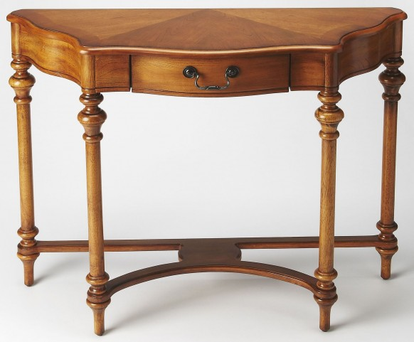 Morency Olive Ash Burl Console Table