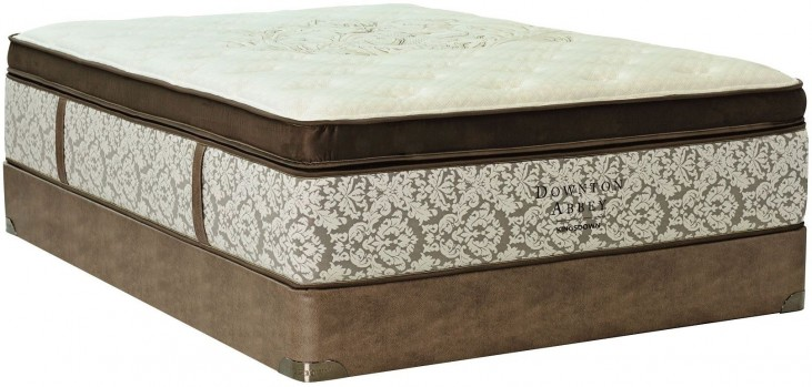 Downton Abbey Edwardian Lace VII Pillow Top Twin Long Mattress With Foundation