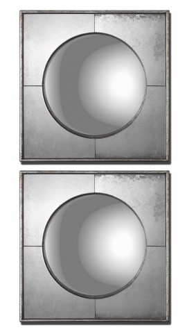 Champagne Silver Mirror Set of 2