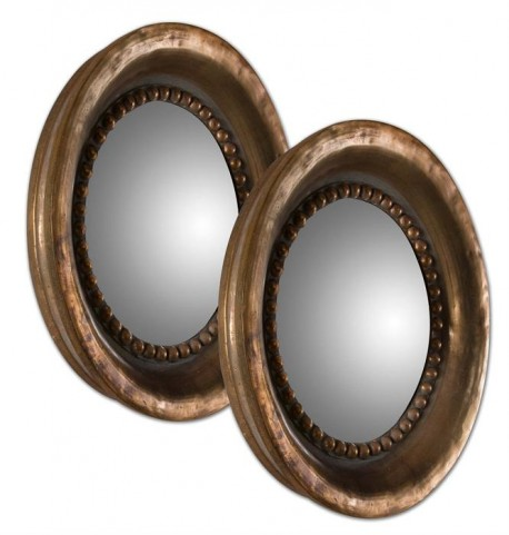Tropea Rounds Wood Mirror Set of 2