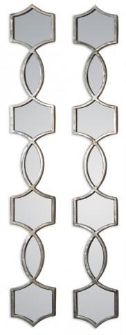 Vizela Metal Mirrors Set of 2