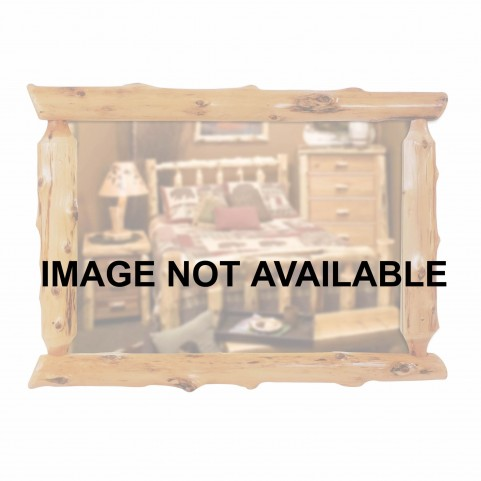 "Vintage Cedar 32"" Half Log Mirror Without Glass"