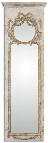 Casella Antiqued Ivory Wall Mirror
