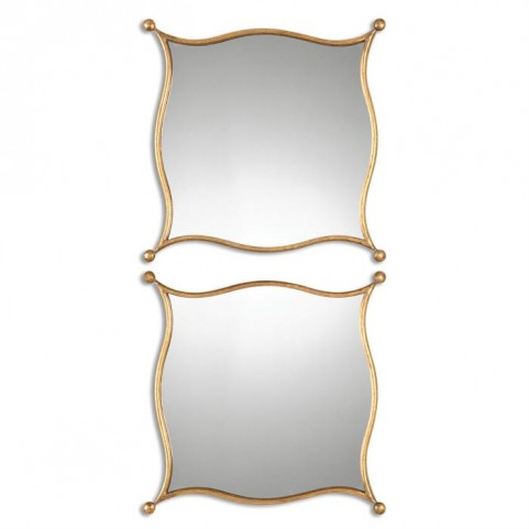 Sibley Gold Mirrors Set of 2