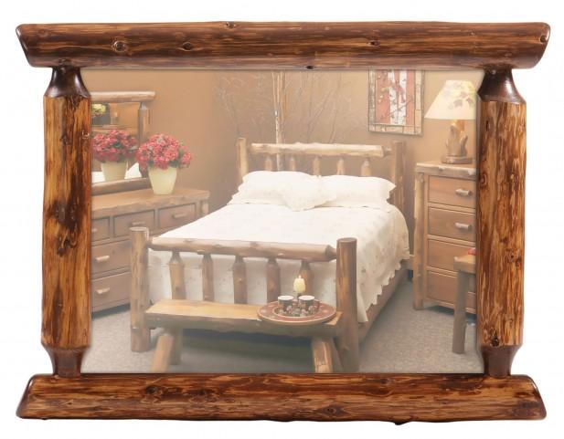 """Cedar 48"""" Half Log Mirror"""
