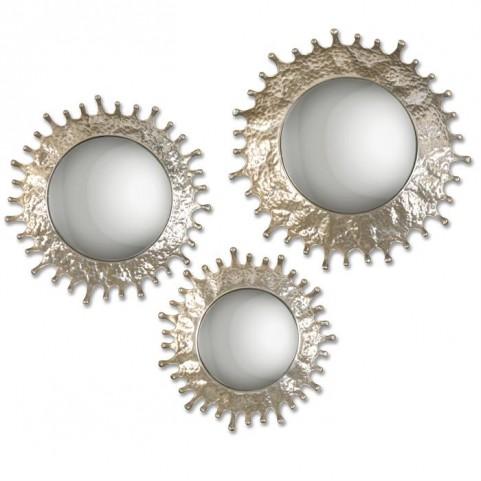 Rain Splash Round Mirrors Set of 3