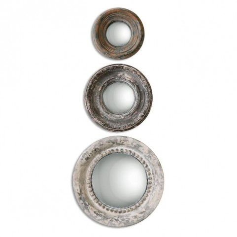 Adelfia Round Mirrors Set of 3
