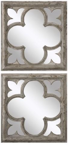 Vellauni Quatrefoil Mirrors Set of 2