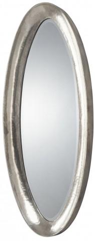 Copparo Silver Oval Mirror