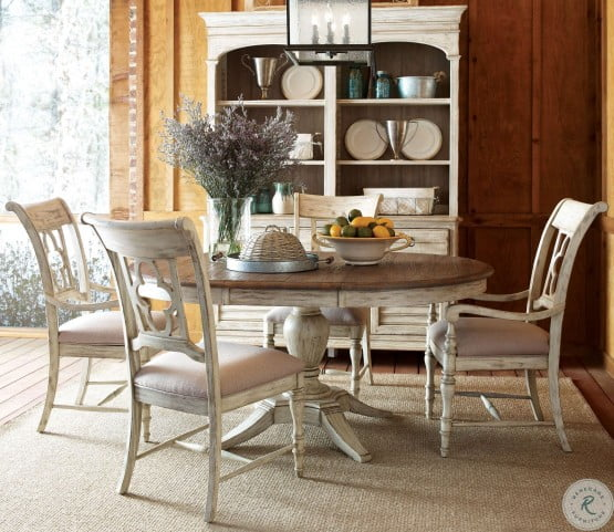 Weatherford Cornsilk Milford Round Dining Room Set From Kincaid 75 052p Coleman Furniture