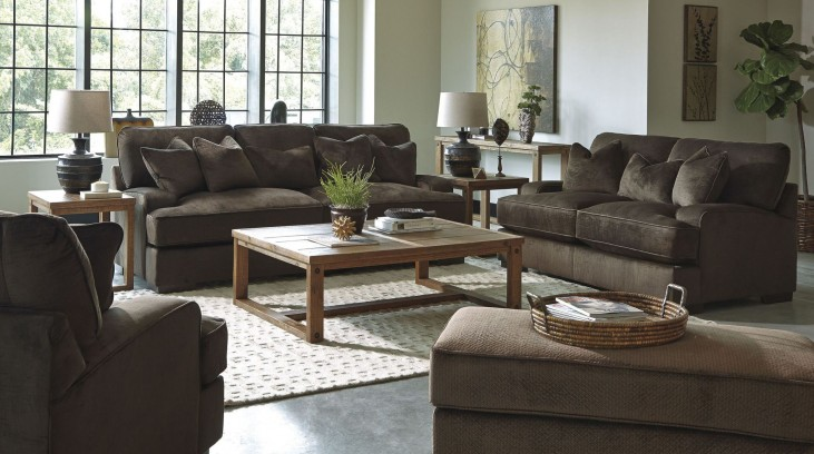 Bisenti Chocolate Living Room Set