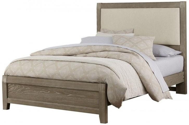 Bedford Washed Oak King Upholstered Panel Bed