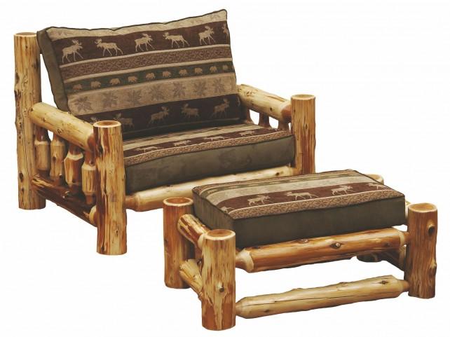 Cedar Log Frame Chair and a Half