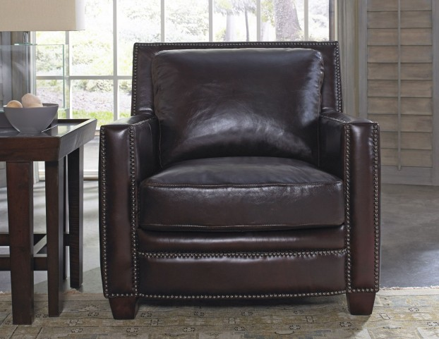 Simplicity Cranberry Leather Chair
