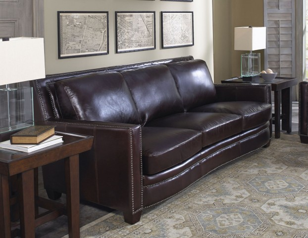 Simplicity Cranberry Leather Sofa