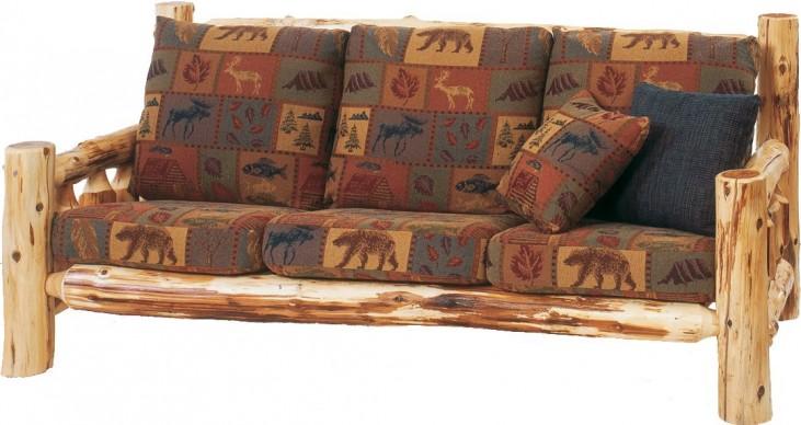 """Cedar Log Frame 84"""" Sofa"""