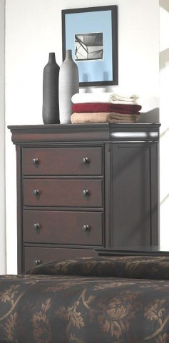 Hyde Park Seal Brown 5 Drawer Chest