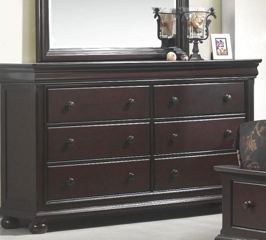 Hyde Park Seal Brown 6 Drawer Dresser