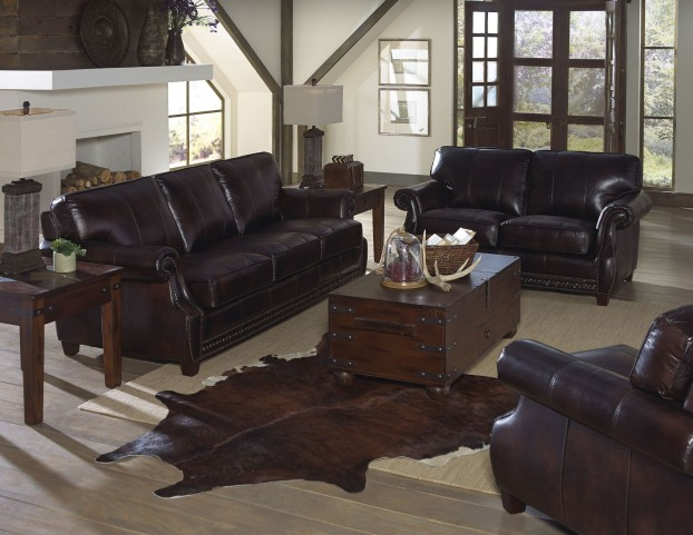Anna Toberlone Leather Living Room Set