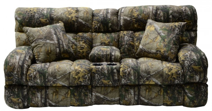 Appalachian Realtree Xtra Power Lay Flat Reclining Console Loveseat