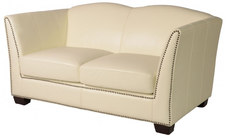 Marilyn White Leather Loveseat