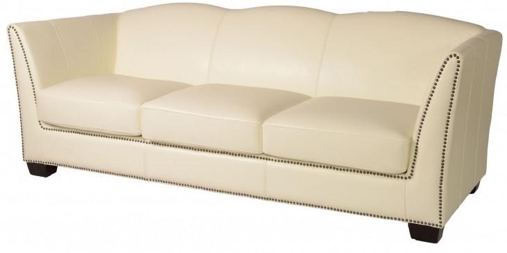 Marilyn White Leather Sofa