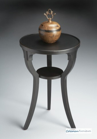 Black Licorice 1328111 Round Accent Table