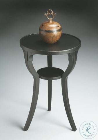 Black Licorice 1328111 Round Accent Table