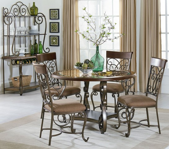 Bombay Dark Cherry Round Dining Room Set