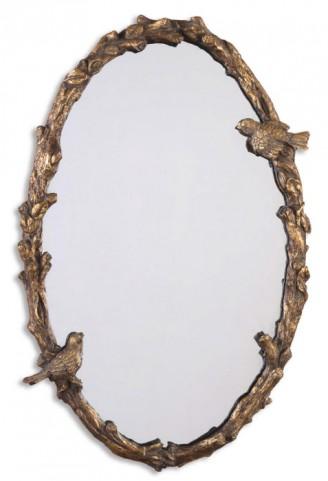 Paza Oval Vine Gold Mirror