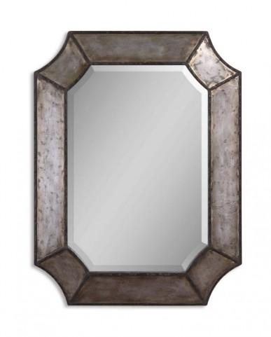 Elliot Distressed Hammered Aluminum Mirror
