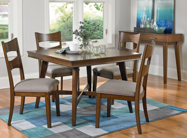 Miranda Brown Cherry 5 Piece Dining Room Set