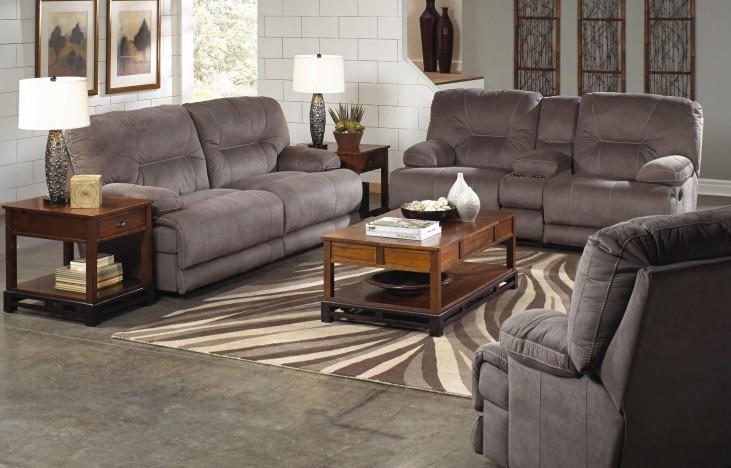 Noble Slate Power Reclining Living Room Set