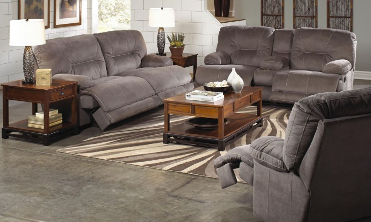 Noble Slate Reclining Living Room Set
