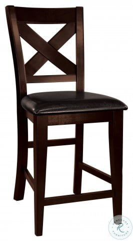 Crown Point Warm Merlot Counter Height Chair Set of 2