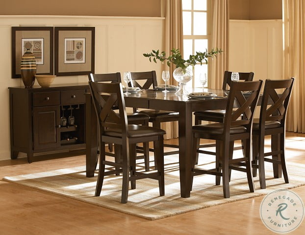 Crown Point Warm Merlot Extendable Dining Table