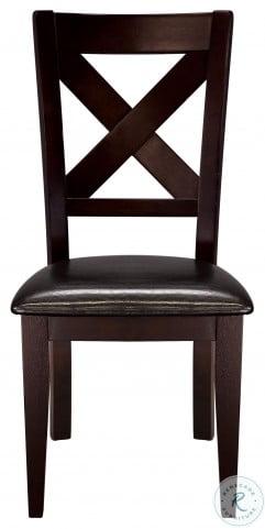 Crown Point Warm Merlot Side Chair Set of 2