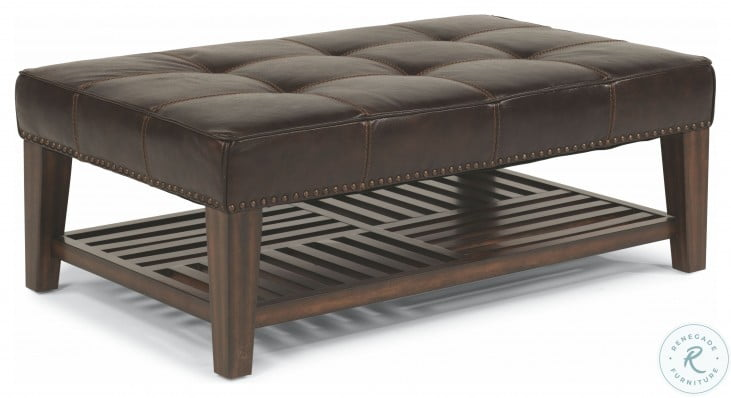 Port Royal Brown Leather Sectional